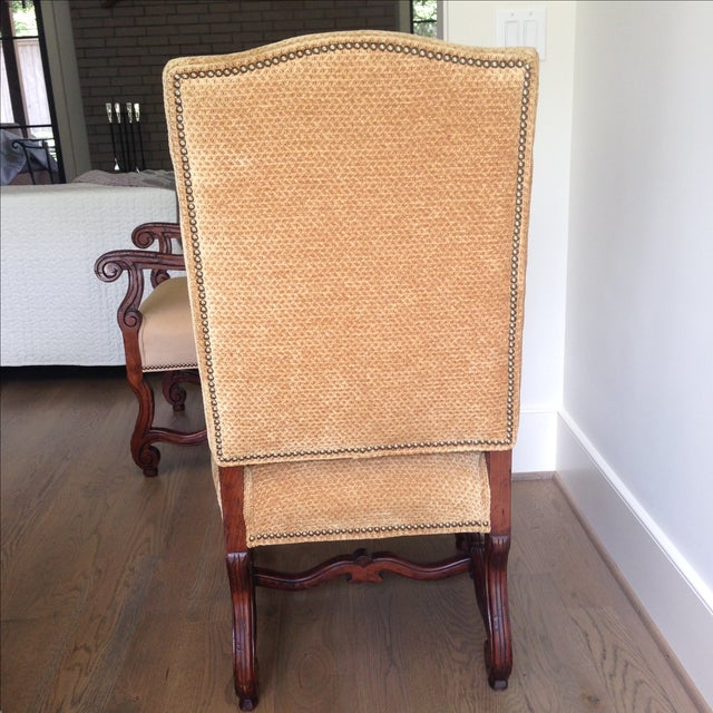 Fremarc Carved Provence Dining Chairs - Set of 6 For Sale - Image 7 of 9