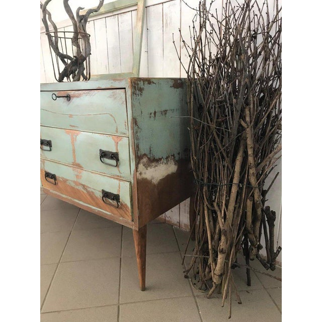 Wood 20th Century Italian Vintage Design Lacquered Commode or Chest With Frame For Sale - Image 7 of 13