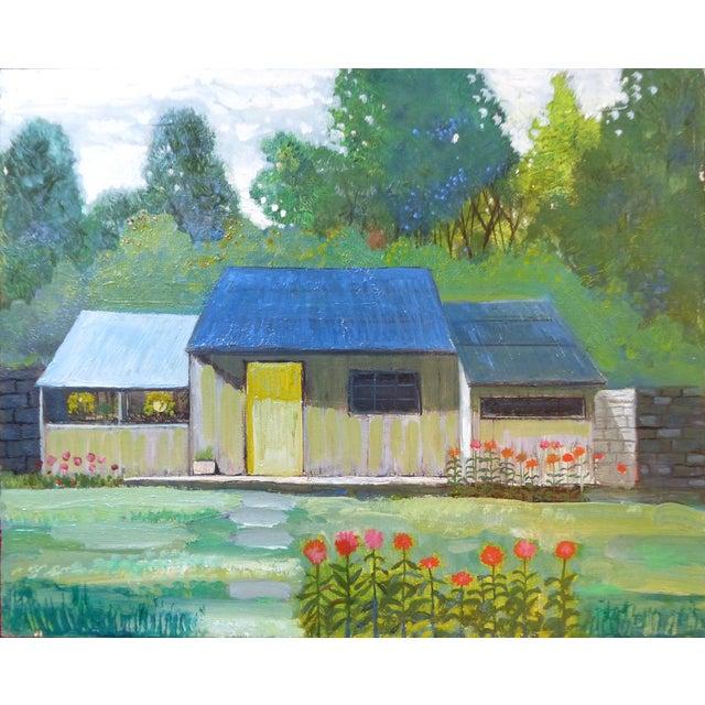 Robert Blanchard Mid-Century Cottage Oil Painting - Image 1 of 9
