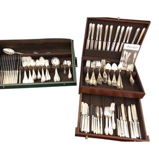 Buccellati Sterling Flatware Empire Pattern - Set of 211 For Sale