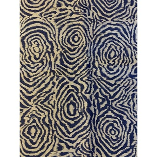 Quadrille Printed Meloire Blue Fabric For Sale