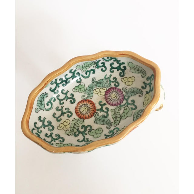 Vintage Ceramic Chinoiserie Monkey Dish For Sale - Image 4 of 7