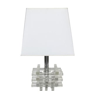 Stacked Glass Table Lamp by Albano Poli for Poliarte For Sale