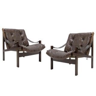 1960s Vintage Torbjørn Afdal Easy Chairs - a Pair For Sale