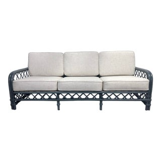 Ficks Reed Bamboo Rattan Sofa For Sale