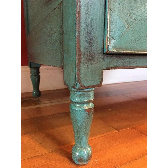 Vintage Solid Wood Buffet Sideboard Server - Image 9 of 9