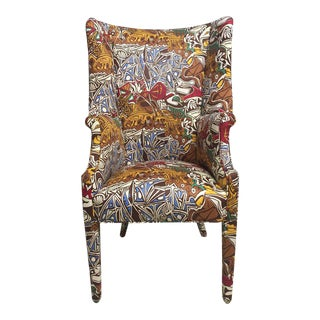 Wing Chair With Picasso Theme For Sale
