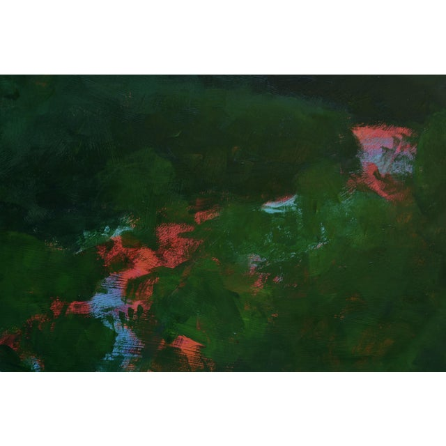 """Contemporary Stephen Remick """"Sunset Over the Mad River"""" Contemporary Abstract Painting For Sale - Image 3 of 10"""
