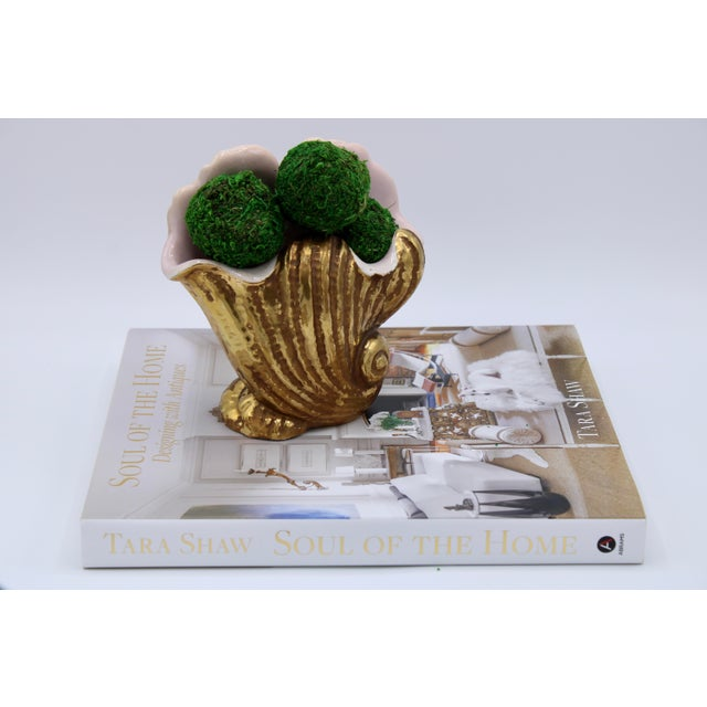 Mid-20th Century Italian Ceramic Shell Cachepot Planter For Sale - Image 12 of 13