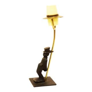 Brass salt shaker by Walter Bosse for Hertha Baller For Sale