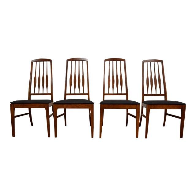 Keller Black Vinyl Dining Chairs - Set of 4 For Sale
