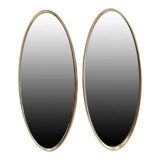 La Barge 1960s Oval Wood Gilt Mirrors - a Pair For Sale