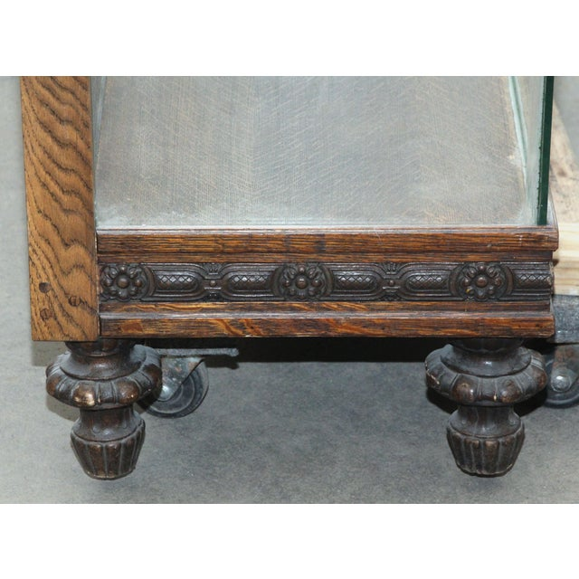 Large Showcase With Carved Wood Details For Sale - Image 6 of 7