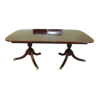 Thomasville Figural Mahogany Duncan Phyfe Dining Room Table For Sale