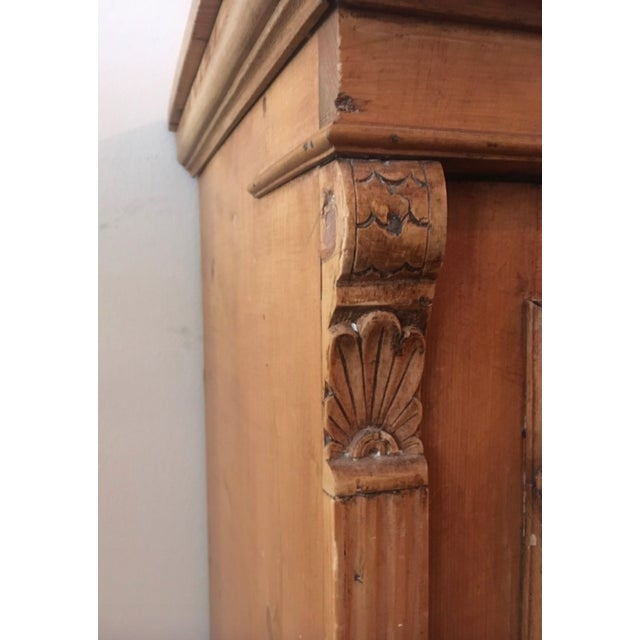 English Traditional 19th C Antique French Pine Cabinet For Sale - Image 3 of 13
