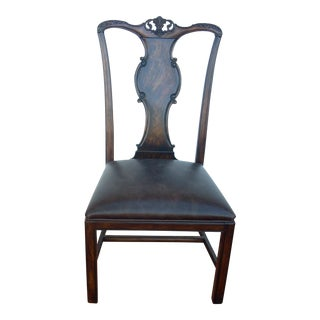 Traditional Georgian Style Wooden Chair For Sale