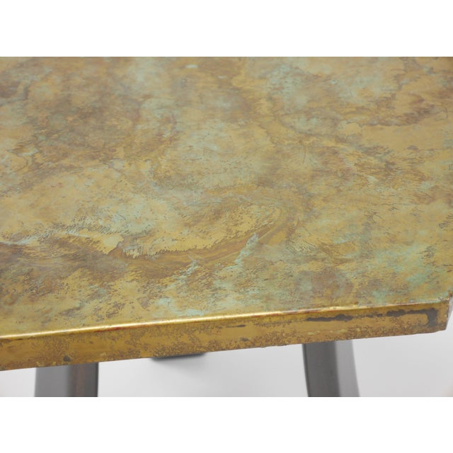 Pair of Harvey Probber Acid-Etched Bronze Tables For Sale - Image 9 of 11