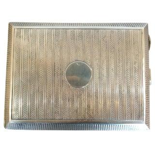English s.j. Rose Sterling Silver Cigar Case, Circa 1927 - 50th Anniversary Sale For Sale