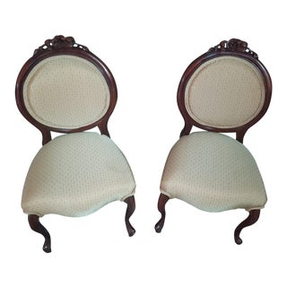 Victorian Ballon Back Chairs - a Pair