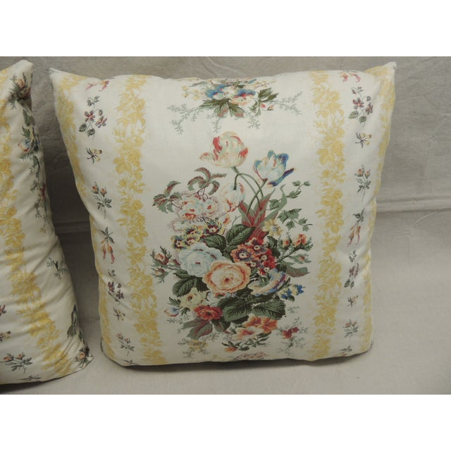 Floral Chintz Pillows - A Pair - Image 3 of 4