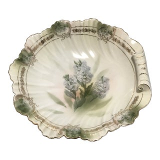 Early 1900's Gilded Porcelain Serving Bowl For Sale