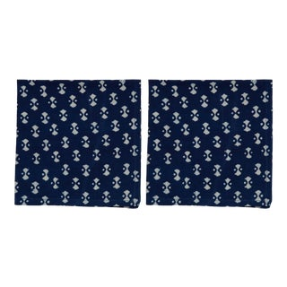 Nagina Napkins, Indigo - A Pair For Sale