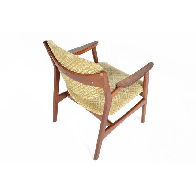 Danish Modern Rosewood & Mohair Armchair - Image 5 of 10