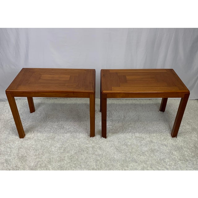 Mid-Century Modern 1960s Danish Mid-Century Modern Henning Kjaernulf for Vejle Stole Møbelfabrik Side Tables -- a Pair For Sale - Image 3 of 11