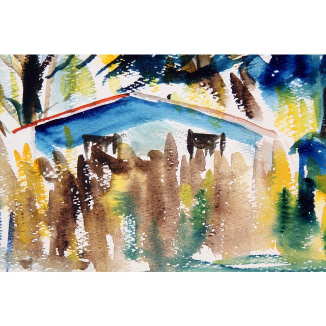 House in Pensacola, 1957 Watercolor Painting - Image 3 of 4