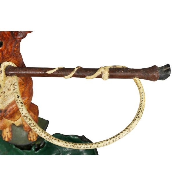 Victorian Painted Cast Iron Figural Umbrella Stand For Sale - Image 10 of 10