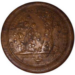 "19th Century Empire Pressed Wood Snuff Box, ""L'amour..L'amitie"" For Sale"