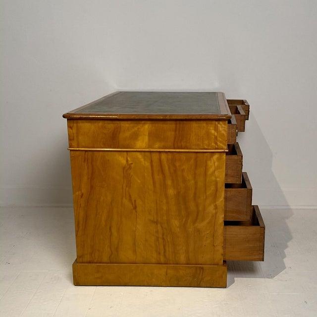 19th Century English Satinwood Desk Circa 19th Century For Sale - Image 5 of 8
