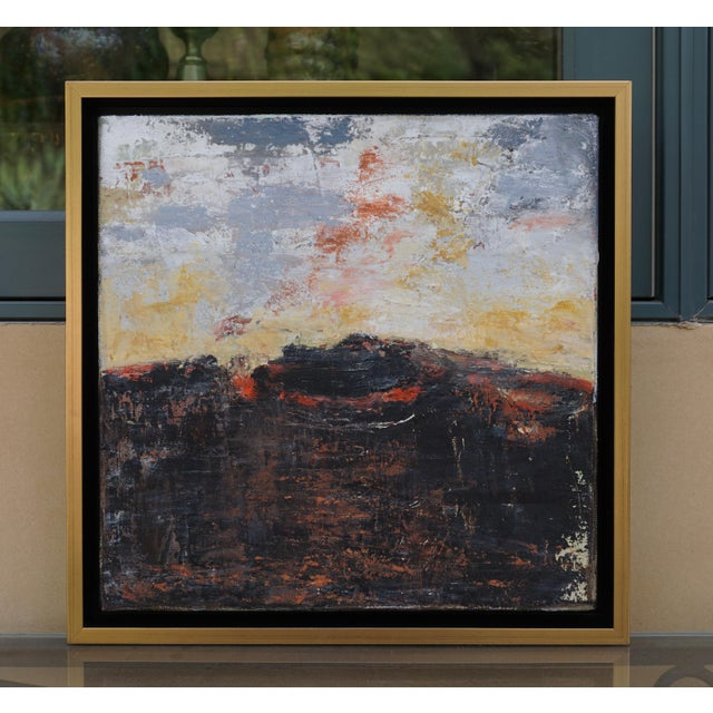 """Volcano"" Contemporary Abstract Landscape Mixed-Media Painting by Laurie MacMillan, Framed For Sale In Los Angeles - Image 6 of 6"
