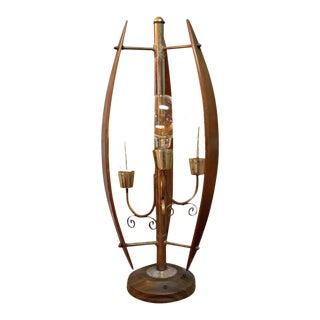 1960s Danish Modern Teak Lamp For Sale