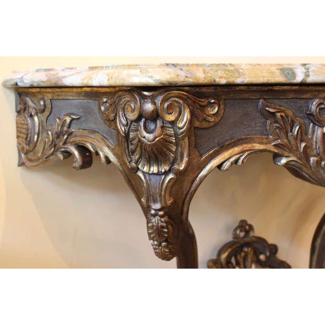 Early 18th Century Early 18th Century Antique French Louis XV Console Table For Sale - Image 5 of 7