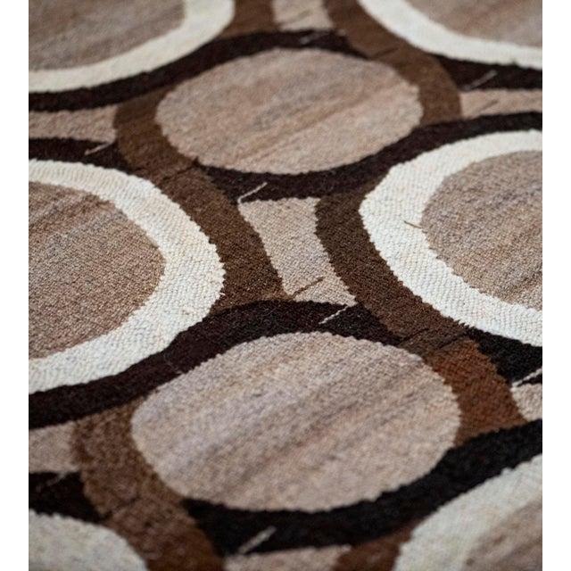 Contemporary Wool Flatweave Rug Handwoven in Turkey For Sale - Image 3 of 7