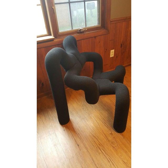 Black Ekstrem Ergonomic Lounge Chair Terje Ekstrom For Sale - Image 8 of 10