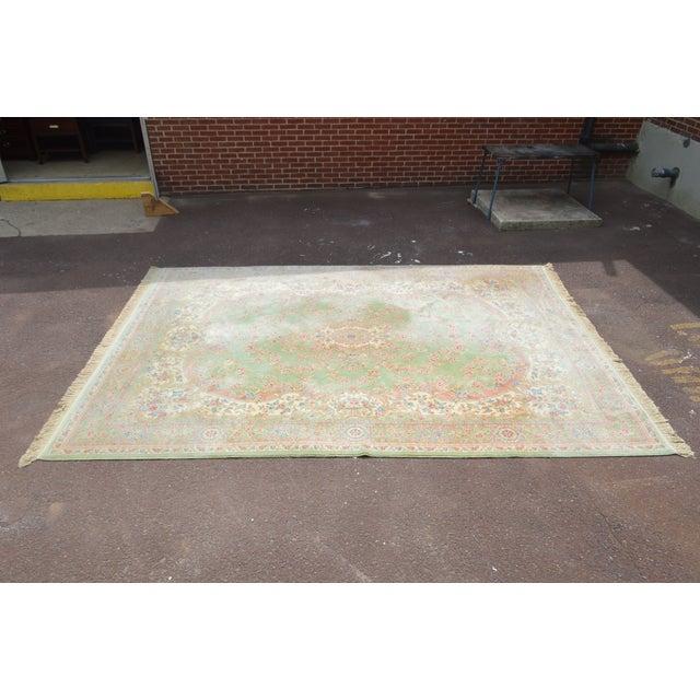 "Traditional Karastan Soft Green Kirman 8'7"" X 12'9"" Room Size Rug For Sale - Image 3 of 12"