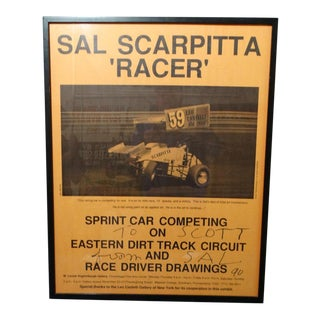 1990 Salvatore Scarpitta (1919-2007) Racing Poster For Sale