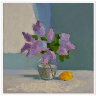 "Medium ""Lilac With Lemon"" Print by Anne Carrozza Remick, 38"" X 38"""