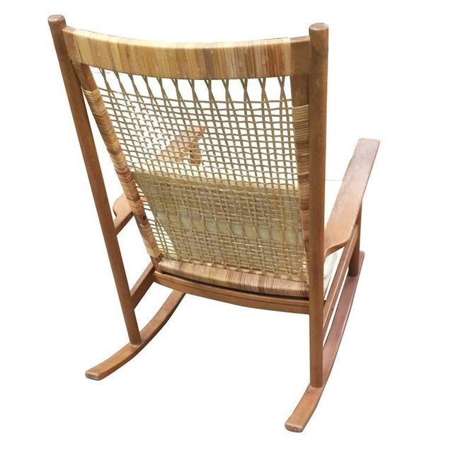 Hans Olsen Danish Modern Rocking Chairs by Hans Olsen for Juul Kristiansen For Sale - Image 4 of 6