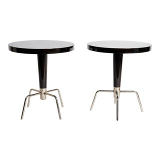 Italian Style Round Table- A Pair For Sale