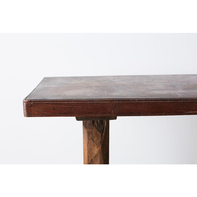 Rustic Italian Baroque Refectory Trestle Table For Sale - Image 4 of 13