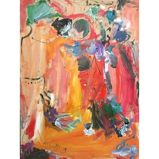 Abstract Oil Painting by Sean Kratzert 'Buddies' For Sale