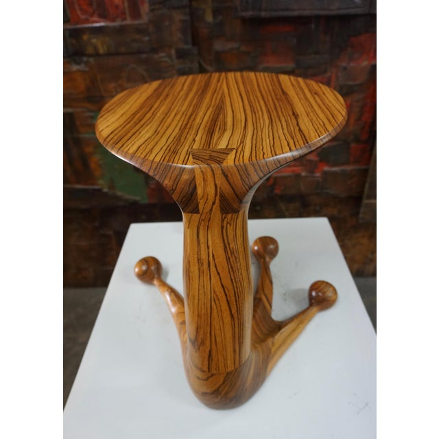 1970s Zebrawood Stool by Tim Mackaness For Sale - Image 5 of 7