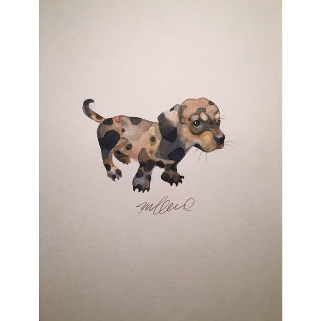 Dappled Doggy Original Watercolor Painting - Image 1 of 2