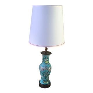 Vintage Chinese Turquoise Lamp For Sale