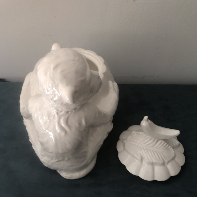 Vintage Italian White Porcelain Monkey Tureen For Sale In Miami - Image 6 of 8