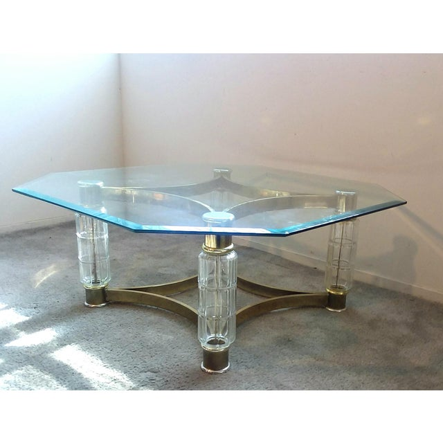 Art Deco Art Nouveau Glass Coffee Table For Sale - Image 3 of 10