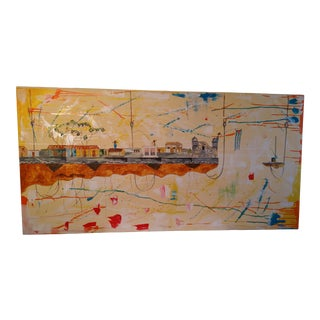 Contemporary Abstract Cuban Landscape Acrylic Painting by Alejandro M. Drago For Sale